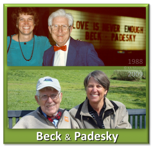 Aaron T Beck and Christine A Padesky in 1988 and 2009