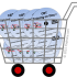 image of padesky store shopping cart full of dvds