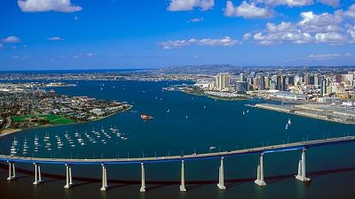 view of coronado bridge in san diego california
