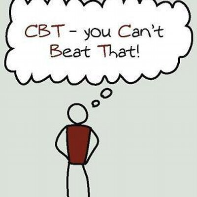 photo of stick figure saying cbt you can't beat that