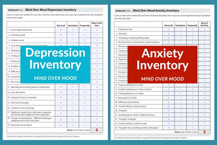Are there norms for Mind Over Mood Depression & Anxiety Inventories?