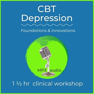 mp3 audio cover art for cbt depression. foundations and innovations