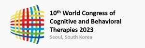 logo for the 2023 world congress in cognitive and behaviorial therapies in seoul, south korea