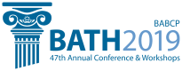logo for british association for behavioural and cognitive psychotherapies annual conference